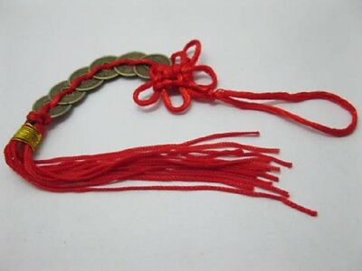 100 Fengshui 6-Emperor Coins with Tassel For Wealth
