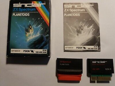 Sinclair ZX Spectrum rom cartridges 16k/48k Planetoids & Horace and the spiders