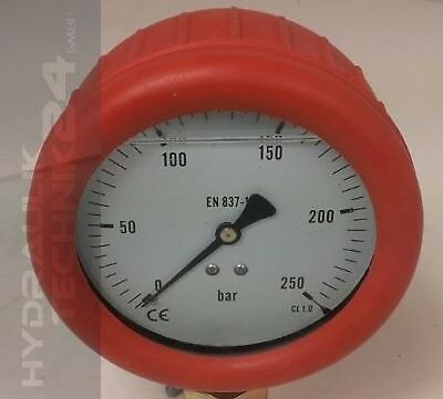 Hydraulic Pressure Gauge Glycerol Stainless Steel Eco-Line 0-0, 6 Bar with