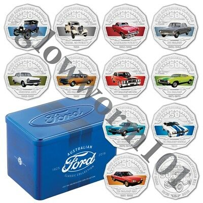 2017 Ford Australian Classic Coin Collection 12 Coin with Tin
