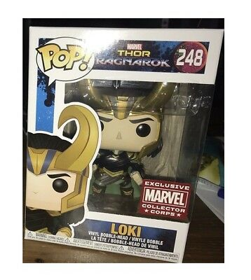 FUNKO pop LOKI RAGNAROK VARIANT HORNS MARVEL COLLECTOR CORPS EXCLUSIVE #248
