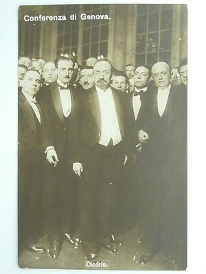 Politics Famous People Genoa Conference 1922-Real Photo-Vc2-S48430