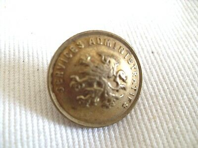 BELGIAN SERVICES AMINISTRATIFS TUNIC BUTTON Flanders Lion army Belgium trench