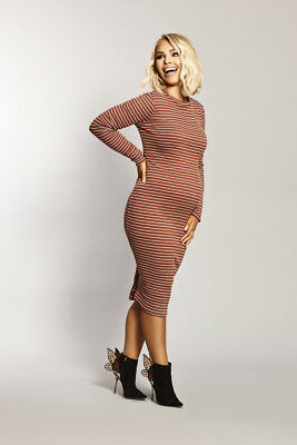 e97870febc KATIE PIPER MATERNITY Ribbed Long Sleeve Midi Dress Want That Trend ...