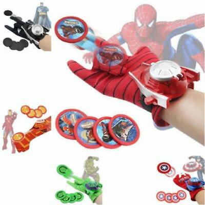 Super Hero Spider-Man Launchers Gloves Kids Children Cosplay 1Set Cute Fun Toy A