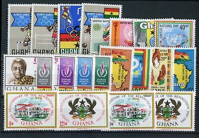 Ghana 1969 Commemoratives Olympics UN Rights Revolution Republic  MNH