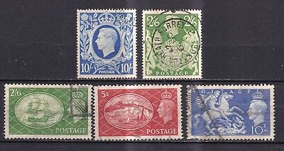 Great Britain 1939/51 collection of high values  used