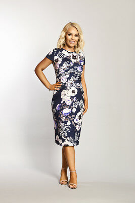 Katie Piper Maternity Cap Sleeve Twist Front Floral Midi Dress Want That Trend