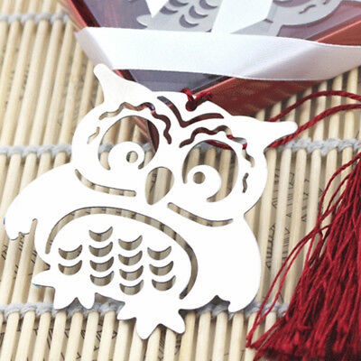 1X Owl Bookmarks Sign Label Tassel Pendant Birthday Wedding Supply Decor Gifts