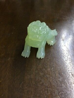 Antique Chinese Jade Carved  Foo Dog