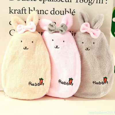 Lovely Plush Hot Water Bag Bottle Heat Winter Warm Prevent Cold Comfortable UH4W