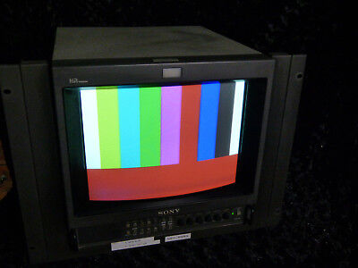 Sony PVM-14M4E  Hi Res Video Monitor - Composite/YUV/RGB - with rack mount