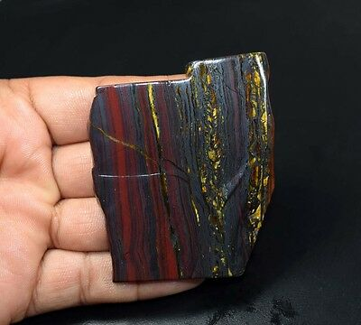 281.05 Cts. 100% Natural Multi Iron Tiger Slice For Making Cabochons