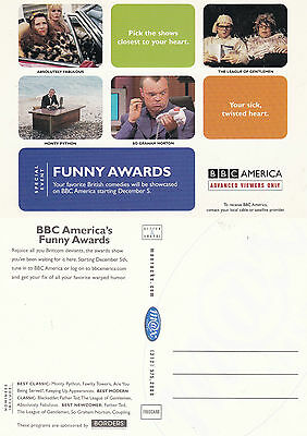 Funny Awards On Bbc America Channel Unused Advertising Colour  Postcard