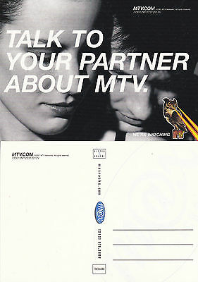 TALK TO YOUR PARTNER ABOUT MTV UNUSED ADVERTISING COLOUR  POSTCARD (a)