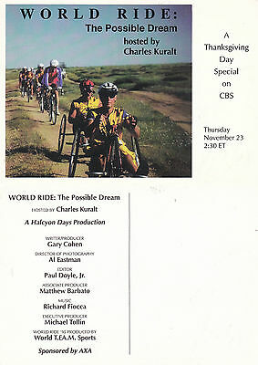 World Ride The Possible Dream On Cbs Tv Unused Advertising Colour  Postcard