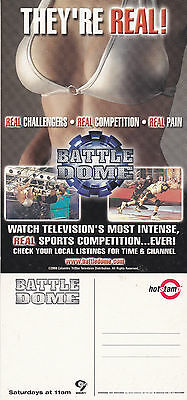 Battle Dome On Channel 9 Wwor Tv Unused Advertising Colour Postcard