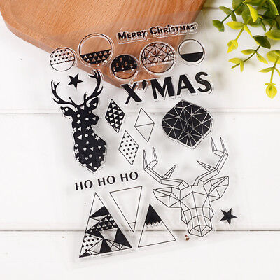 12*20cm Silicone Stamp Merry Xmas Design For Scrapbooking Photo Card Handmade