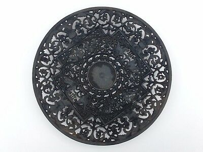 Antique Buderus Cast Iron Filigree Wall Plate German Ornate Gothic Revival 19thc