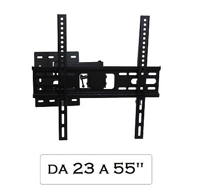 Supporto Staffa da Muro VESA TV 26-32-40-42-46-48-49-50-55 lcd Plasma Led Curvo