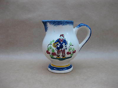 Vintage Faience Jug ~ Dieppe ~ French Pottery Jug