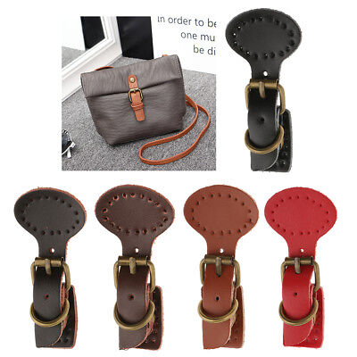 1 Set Leather Buckles Bag Making Fastener Magnetic Snap Sew on DIY Retro Clasp