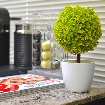 Artificial Topiary Tree Ball Plants In Pot Fake Plant Ball Pot Home Office Decor