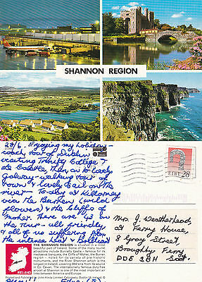 1995 Multi Views Of The Shannon Region County Clare Ireland Colour Postcard