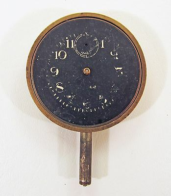 Vintage Waltham 8 Day Classic Car Clock Black Face - For Parts Or Restoration