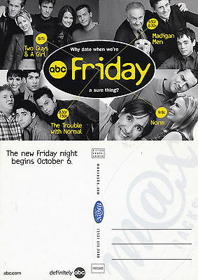 Friday Nights On Abc Tv Channel Unused Advertising Colour Postcard