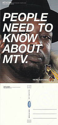 PEOPLE NEED TO KNOW ABOUT MTV UNUSED ADVERTISING COLOUR  POSTCARD (a)