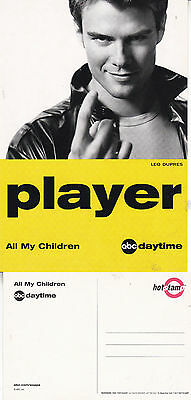 ALL MY CHILDREN ABC DAYTIME TV CHANNEL UNUSED ADVERTISING COLOUR POSTCARD (a)