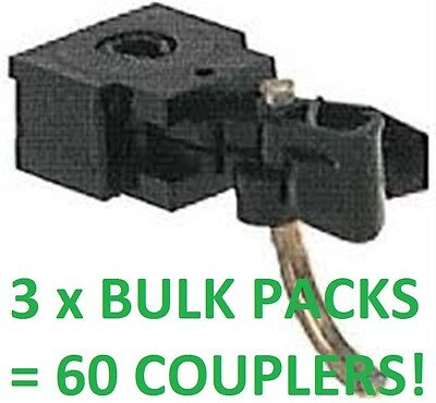 MICROTRAINS - 3 x BULK PACK 10 PAIR BLACK BODY MOUNTED COUPLERS = 60 COUPLERS!