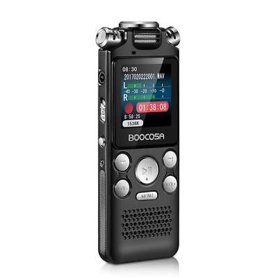 Voice Recorder 8GB Audio Sound Recorder Portable Rechargeable Dictaphone MP3