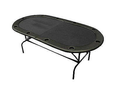 Professional Folding Poker Table with Legs - Casino Black Speed Cloth 10 Player