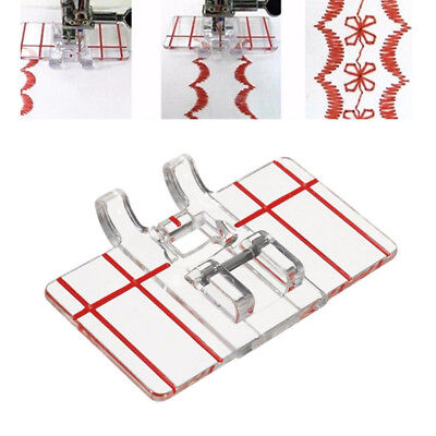 Clear Plastic Parallel Stitch Foot Presser For Home Domestic Sewing Machine