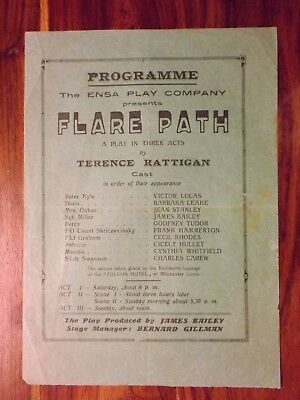WWII FLARE PATH programme for ENSA production c.1943