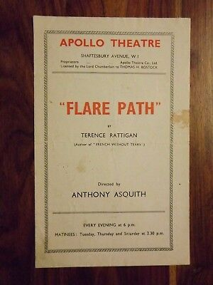 WWII FLARE PATH play staged at APOLLO THEATRE c.1943