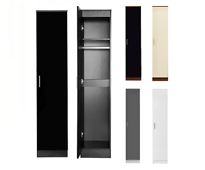 REFLECT 1 Door Soft Close Plain Wardrobe High Gloss Bedroom Furniture 4 Colours