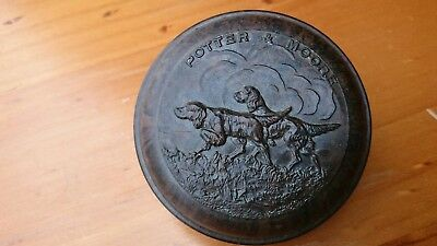 Antique Potter and Moore Bakelite and Brass Setter Shaving Soap Dish