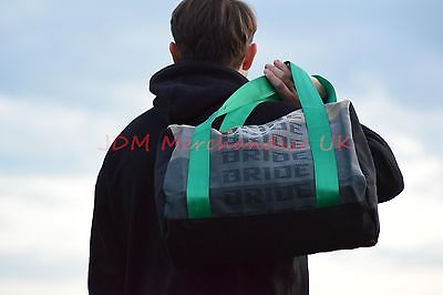 JDM Bride Green Takata Style Harness Duffle/Travel/gym bag UK STOCK High quality