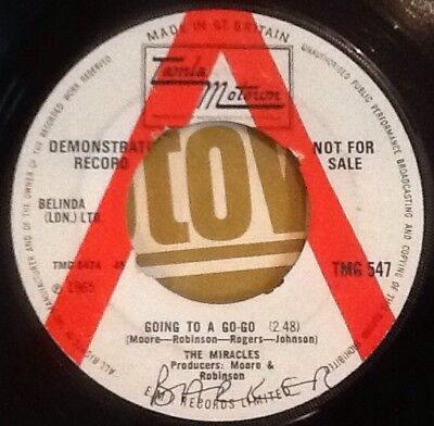 THE MIRACLES - Going To a Go-go. UK Tamla Demo 45'. 1965 TMG 547 Motown