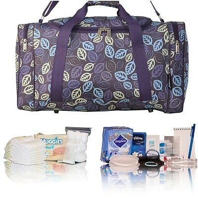 Purple leaf pre-packed hospital/maternity bag new mum& baby shower newborn gift