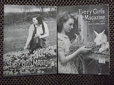 WWII EVERY GIRL'S magazine - two issues [Jan-Feb 1945 / Mar-April 1945]