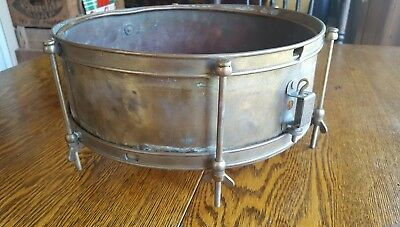 antique vintage M.DEVRIES LIERRE brass cooper drum snare?