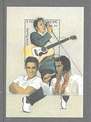 S.TOME E PRINCIPE Elvis Presley  used small mini sheet