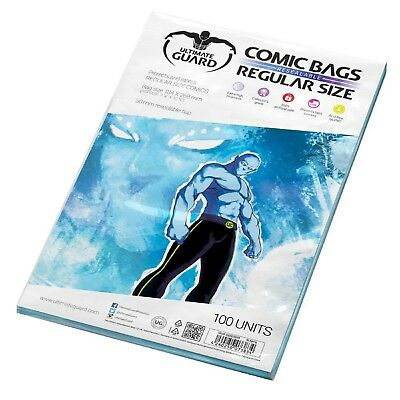 Ultimate Guard: 100 Regular Age Size Resealable Comic Book Storage Bags