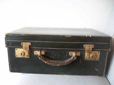 Antique Mappin And Webb Vanity Leather Travelling Case
