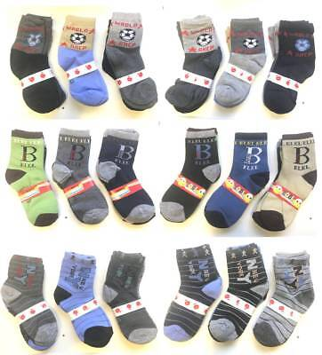 Boys Childrens Kids Character Socks Cotton 6 Pairs Pack Assorted New *Choose*