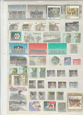 155 Stamps Canada Used